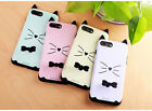 Cute Cat Finger Ring Phone Case For iPhone 7/ 7 Plus Bowknot Shockproof Cover