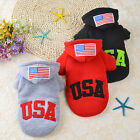 US Jacket Pet Winter Cotton Coat Hoodie Hat Warm Apparel Puppy Cat Dog Clothes