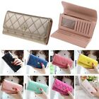 US Fashion Womens Leather Bifold Wallet Clutch Card Holders Purse Long Handbag