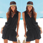 Women Ladies Sleeveless Jumpsuit Romper Trousers Bodycon Party Playsuit US STOCK