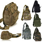 Mens Military Tactical Canvas Shoulder Bag Outdoor Hiking Crossbody Backpack New
