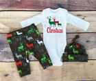 3Pcs Toddler Kids Infant Newborn Baby Girls Boy Romper+Pants Outfit Clothes Sets