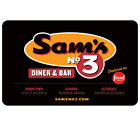 Sam's No 3 Diner and Bar Gift Card - $25, $50 or $100  Email delivery