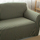 Striped Stretch Protector Loveseat Lounge Sofa Chair 1/2/3 Seater Couch Cover