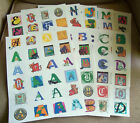 Set of 24 Stickers of Initial Letters-Pick Your Letter-D, H, J, and S