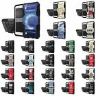 LG Tribute HD X Style Defender Armor Case Holster Kickstand Screen Protector - S