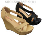 NEW Women's Wedge Gladiator High Heel Sandal Platform Open Toe Shoes