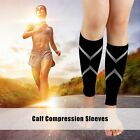 Pair Calf Compression Sleeve Support Graduated Leg Sports Socks Outdoor Exercise