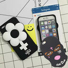 3D Cartoon Soft Silicone Case Cover Back Skin For iPhone5/SE/6/6s/7 Plus Cute