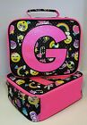 Justice for Girls Insulated Emoji Lunch Box Tote Bag Monogrammed Initial NWT