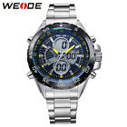 WEIDE  Luxury Men's Watch Analog Digital LED Sports Quartz Casual Wristwatches