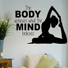 Body Mind Fitness Gym Inspiration Quote Wall Art Stickers Decals Vinyl Home Room
