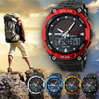 Men's Solar Powered Military Digital Watch Waterproof Sport Analog Date Quartz  image