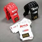 PU MMA Muay Thai Sanda Mitts Punching Sparring Boxing Training Half Hand Gloves