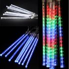 144led Meteor Shower Falling Star Rain Drop Icicle Snow Fall Xmas Fairy Light Us