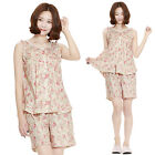 Women Cotton Pajamas Set Floral Sleepwear Nightwear Nightclothes M SIZE NO2