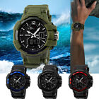 Men's Shock & Water Proof Dual Time Analog Digital Sport Military Wrist Watch
