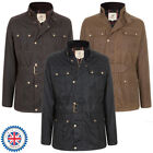 WAX COTTON/OILSKIN 4 POCKET BELTED MOTORBIKE COAT/JACKET -  XS-3XL - MADE IN GB