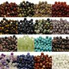 Semi Precious Gemstone Round 6mm Beads - 42 Stone Choices x 10 beads per pack