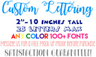 Custom Vinyl Lettering Personalized Saying Stickers Logos Ca