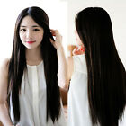 75cm Synthetic Womens Lady Natural Colors Long Straight Hair Costume Full Wig