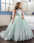 NEW Formal Wedding Birthday Flower Girls Princess Dress Pageant Ball Gown Party