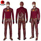 DFYM The Flash Barry Allen Leather Outfit Cosplay Costume Battleframe Custommade