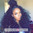 Women's Curly Lace Wigs Human Hair Lace Front Indian Remy Glueless Full Lace Wig