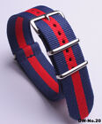 ( 18 20 22 )MM Nylon Watch band strap  watch strap 2blue-red