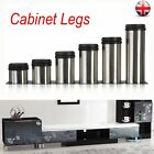 4pcs Cabinet Legs Adjustable Stainless Steel Feet Round Stand For Kitchen