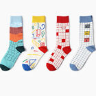1 Pair New Men Women Happy Socks Casual Colorful Combed Cotton Korea Style Socks