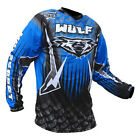 Wulfsport Cub Childs Blue Black Motocross Jersey Kids MX Top New