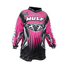 Wulfsport Cub Childs Pink Black Motocross Jersey Kids MX Top New
