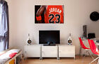 Michael Jordan Chicago Bulls Jersey Canvas Print Art Home Decor Wall on eBay