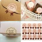 72Pcs Handmade Paper Stickers Labels Seal Craft Preserve Gift Food Decal Party