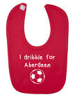 I Dribble For Aberdeen Baby Bib. Scottish Football. New Born Baby. Baby Shower.