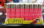 CLIPPER REFILLABLE Gas Flint LIGHTERS SOLID  PINK COLOUR LIGHTER FAST SERVICE