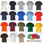 10er Set Herren T-Shirts Fruit of the loom Unisex S M L XL XXL 3XL 18 Farben NEU
