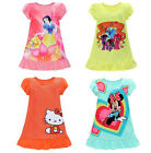 Kids Baby Children's Household  Wear Clothes Girls Nightgown Short Sleeved Dress