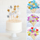 STAR HEART SNOWFLAKE Cake Topper Decoration Wedding Birthday Baby Shower Party