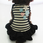 Summer Pet Puppy Clothes Summer Cotton Dress Shirt Small Dog Cat Striped Apparel