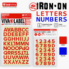 Iron On Letters Numbers Appliqué Alphabet Hot Fix Label Name Transfer -Half Inch