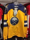 NHL Buffalo Sabres CCM Hooded Sweatshirt Jersey Style Mens XL