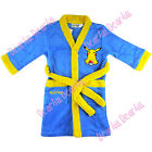 Pokemon Pikachu kids boys dressing gown sleepwear rob nightwear size 4-12 blue