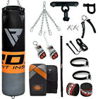 RDX Punching Bag Boxing Punch Unfilled Gloves Bracket MMA Chains Heavy Kicking