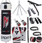 RDX Punching Bag Boxing Punch Unfilled Heavy Gloves Bracket MMA Chains Kicking