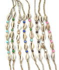 Good Fortune Cowrie Shell Anklet/Bracelet w/beads (select color). Beach/Nautical