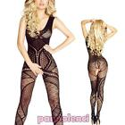 Bodystocking woman onesie catsuit lace lingerie underwear new DL-1919