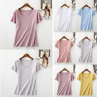 Fashion Women Summer Cotton Vest Top Short Sleeve Blouse Casual Tank Top T-Shirt