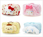 JAPAN SANRIO HELLO KITTY MELODY POM POM PURIN CANVAS PENCIL CASE COSMETIC BAG